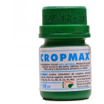 Ingrasamant lichid Bio, contine stimulatori de crestere, cu aplicare foliara,  Cropmax, 20ml,  Chemark