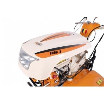 Motosapa O-Mac New 1000-S cu far + roti de cauciuc+plug reversibil, benzina, putere 8 Cp, latime de lucru 55-90 cm, pornire la sfoara, 2 viteze inainte + 1 inapoi #8