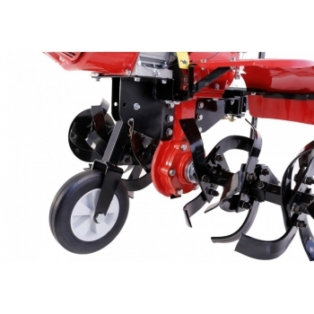 Motosapa Loncin LC1200 cu roti cauciuc+plug+rarita+prasitoare+roti metalice, benzina, putere 8 Cp, latime de lucru 80-130 cm, pornire la sfoara, 3 viteze inainte + 1 inapoi #4