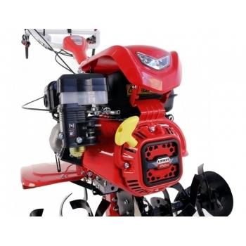 Motosapa Loncin LC1200 cu roti cauciuc+plug+rarita+prasitoare+roti metalice, benzina, putere 8 Cp, latime de lucru 80-130 cm, pornire la sfoara, 3 viteze inainte + 1 inapoi #6