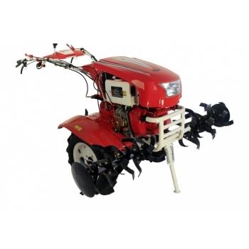 Motocultor PRO SERIES NEW 1350-S cu diferential si roti, motorina, putere 12 Cp, latime de lucru 70-150 cm, pornire automata la cheie, 2 viteze inainte + 1 inapoi