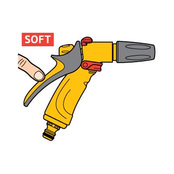 Pistol Hozelock Jet Spray  cu conector Aquastop, 3 tipuri de pulverizare #4