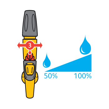 Pistol Hozelock Jet Spray  cu conector Aquastop, 3 tipuri de pulverizare #3