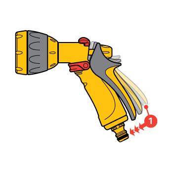 Pistol Hozelock Jet Spray  cu conector Aquastop, 5 tipuri de pulverizare #6