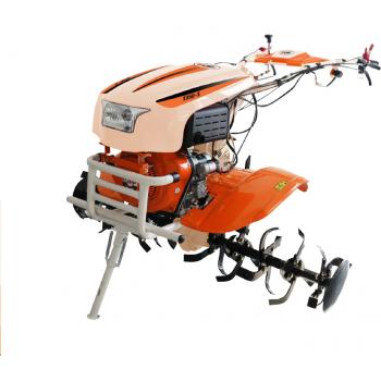 Motocultor O-MAC NEW 1350-S cu diferential + roti, motorina, putere 12 Cp, latime de lucru 50-70 cm, pornire automata la cheie, 2 viteze inainte + 1 inapoi