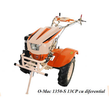 Motosapa O-MAC NEW 1350-S cu diferential + roti, benzina, putere 13 Cp, latime de lucru 50-150 cm, pornire la sfoara, 2 viteze inainte + 1 inapoi #4