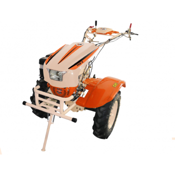 Motosapa O-MAC NEW 1350-S cu diferential + roti, benzina, putere 13 Cp, latime de lucru 50-150 cm, pornire la sfoara, 2 viteze inainte + 1 inapoi