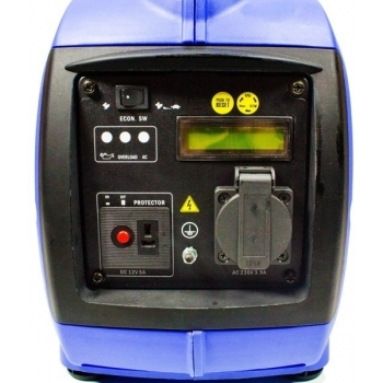 Generator de curent digital/tip inverter monofazat pe benzina  HYUNDAI HY1000Si, 0.9 kW, putere motor 1.8 CP, tensiune 230 V, pornire mecanica #8