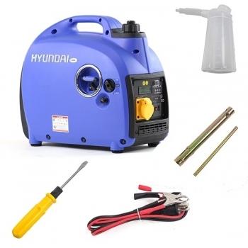 Generator de curent HYUNDAI, HY2000Si, monofazic, putere 2 kW, benzina, putere motor 3.2 Cp, tensiune 230 V, pornire manuala, digital / tip inverter
