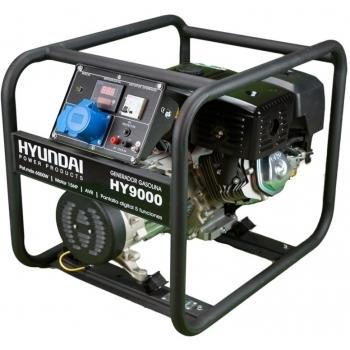 Generator de curent monofazat Hyundai HY9000, 6 kW, putere motor 15 CP, tensiune 230 V, pornire mecanica, avr inclus