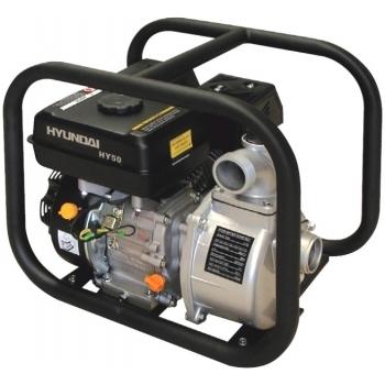 Motopompa HYUNDAI HY50, benzina, apa curata, putere motor 5.5 CP, debit maxim 500 l/min, pornire manuala