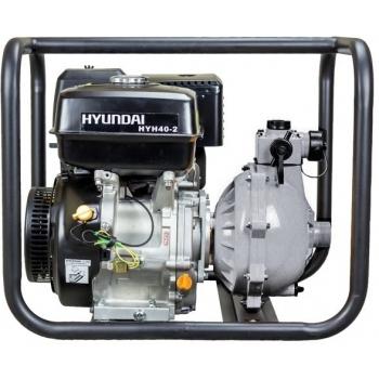 Motopompa HYUNDAI HYH40-2, benzina, presiune inalta, putere motor 13 CP, debit maxim 350 l/min, pornire manuala