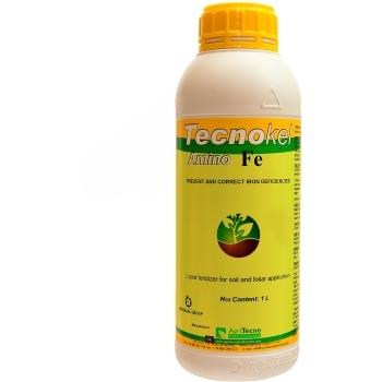Ingrasamant lichid Bio, cu aplicare foliara si la sol, cu aport suplimentar de fier (Fe),  Tecnokel Amino Fe, 1L,  AgriTecno