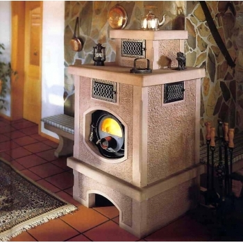 Soba canadiana pe lemne Quebec, cu geam de sticla termorezistent 280xR140, putere 26kw, volum incalzit 600m cubi #4