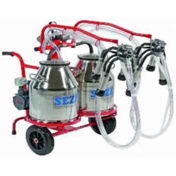 Aparat de muls vaci IMPLS2 Premium, 2 posturi, 2 bidoane inox 30L, pompa vid uscata fara ungere, pulsator pneumatic cu filtru aer, tanc vacuum incorporat, autospalare, productivitate 20-24 vaci/ora