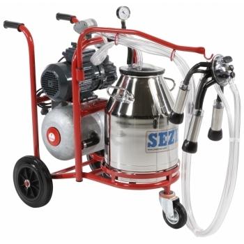 Aparat de muls vaci PLS1 Lux, 1post, bidon inox 30L, pompa vid uscata fara ungere, pulsator pneumatic cu filtru aer, tanc vacuum, autospalare, productivitate 10-12 vaci/ora