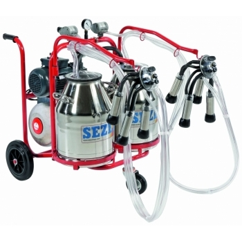 Aparat de muls vaci PLS2 Lux, 2 posturi, 2 bidoane inox 30L, pompa vid uscata fara ungere, pulsator pneumatic cu filtru aer, tanc vacuum, autospalare, productivitate 20-24 vaci/ora