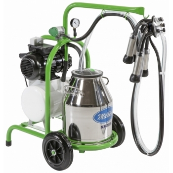 Aparat de muls bivolite Milkkar1 Premium, 1 post, bidon inox 30L, pompa vid uscata fara ungere, pulsator pneumatic cu filtru aer, tanc vacuum, autospalare, productivitate 10-12 bivolite/ora