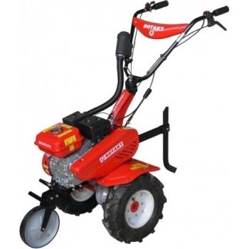Motosapa Rotakt ROG75 cu roti de cauciuc, benzina, putere 7 Cp, latime de lucru 56-83 cm, pornire la sfoara, 2 viteze inainte + 1 inapoi