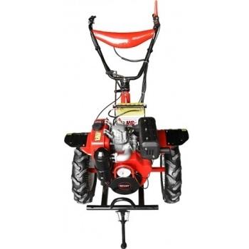 Motocultor Rotakt RO135E cu roti de cauciuc si plug reversibil, motorina, putere 9 Cp, latime de lucru 56-135 cm, aprindere prin compresie, 2 viteze inainte + 1 inapoi