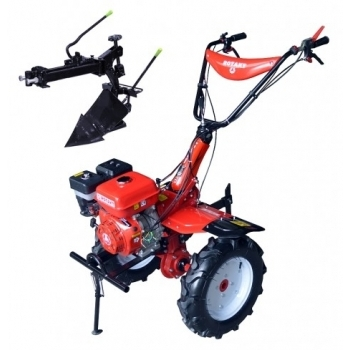 Motosapa Rotakt RO105-9B cu roti de cauciuc, benzina, putere 9 Cp, latime de lucru 56-135 cm, pornire la sfoara, 2 viteze inainte + 1 inapoi