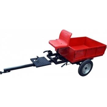 Remorca Rotakt REM450, basculanta, capacitate 450 kg, roti mari pneumatice
