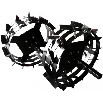 Pachet accesorii plug arat + plug bilonat + roti metalice 4.00-8 (include manicoate) Rotakt #8