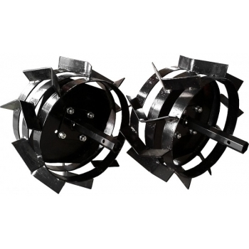 Pachet accesorii plug arat + plug bilonat + roti metalice 4.00-8 (include manicoate) Rotakt #9