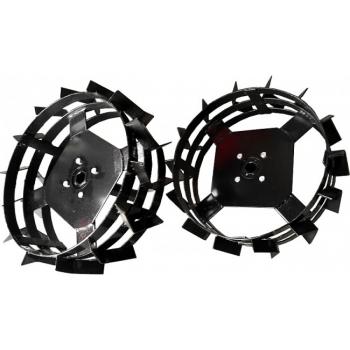 Pachet accesorii plug arat + plug bilonat + roti metalice 4.00-8 (include manicoate) Rotakt #10