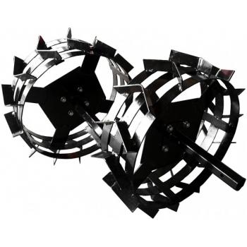 Pachet accesorii plug arat + plug bilonat + plug cartofi + roti metalice 4.00-8 (include manicoate) Rotakt #11