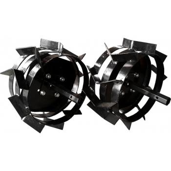 Pachet accesorii plug arat + plug bilonat + plug cartofi + roti metalice 4.00-8 (include manicoate) Rotakt #12