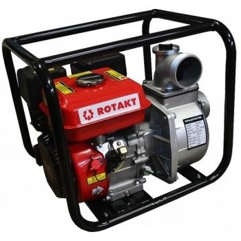 Motopompa Rotakt ROMP3248 3''pentru ape curate, benzina, putere motor 6.5 Cp, debit maxim 800 l/min, pornire manuala