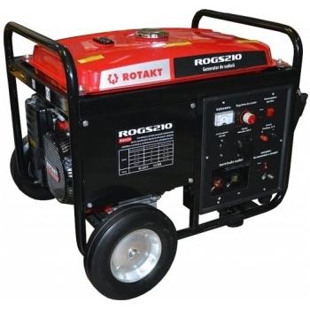 Generator pentru sudura Rotakt ROGS210, monofazic, 4.5 kW, putere motor 14 Cp, tensiune 230 V, pornire manuala