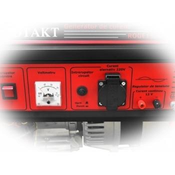 Generator de curent Rotakt ROGE1500, monofazic, putere 1.0 kW, benzina, putere motor 3.5 Cp, tensiune 230 V, pornire manuala, AVR inclus #4