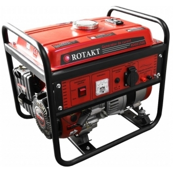 Generator de curent Rotakt ROGE1500, monofazic, putere 1.0 kW, benzina, putere motor 3.5 Cp, tensiune 230 V, pornire manuala, AVR inclus