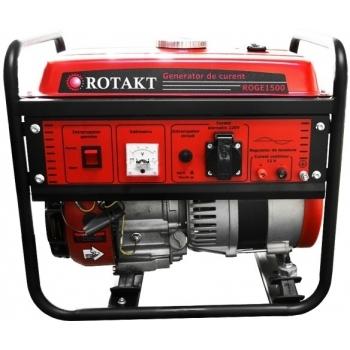 Generator de curent Rotakt ROGE1500, monofazic, putere 1.0 kW, benzina, putere motor 3.5 Cp, tensiune 230 V, pornire manuala, AVR inclus #2