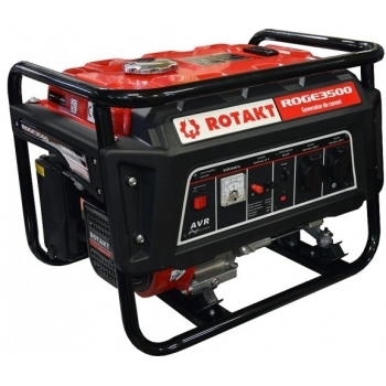 Generator de curent Rotakt ROGE3500, monofazic, 2.8 kW, benzina, putere motor 7 Cp, tensiune 230 V, pornire manuala, AVR inclus