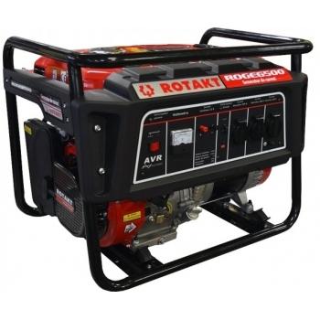 Generator de curent Rotakt ROGE6500, monofazic, 5.5 kW, benzina, putere motor 13 Cp, tensiune 230 V, pornire manuala, AVR inclus
