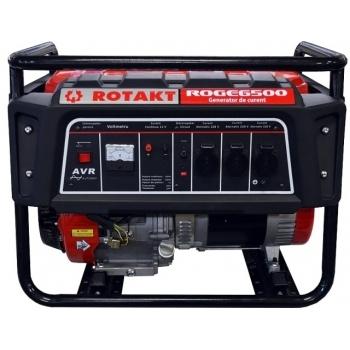Generator de curent Rotakt ROGE6500, monofazic, 5.5 kW, benzina, putere motor 13 Cp, tensiune 230 V, pornire manuala, AVR inclus #2