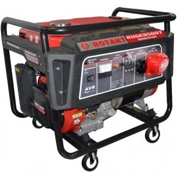 Generator de curent Rotakt ROGE8500T, trifazic, 7.8 kW, benzina, putere motor 15 Cp, tensiune 230/400 V, pornire manuala, AVR inclus