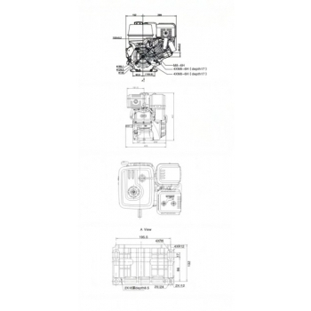 Motor O-mac G390F-L, Loncin Ax conic, putere 8.2 kW, putere motor 13 Cp, capacitate de 389 cc, capacitate rezervor 6.5 L, baia de ulei de 1.1 L #4