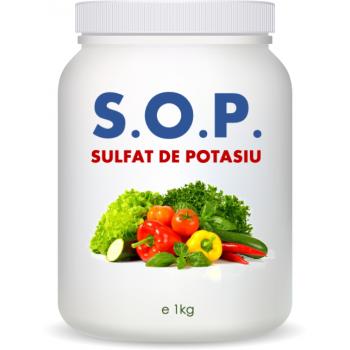 S.O.P. - Sulfat de potasiu (1kg) - 52% K2O + 18% Sulf