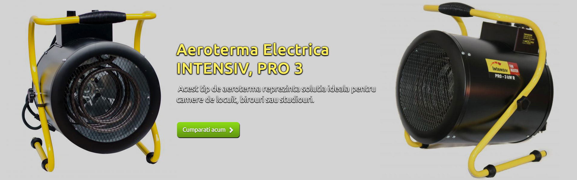 Aeroterma electrica Intensiv, Pro 3 KW R, 230 V, 60 m3